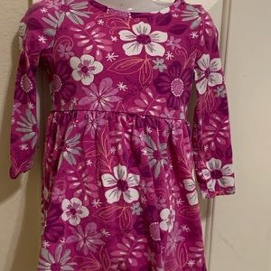 Gymboree toddler girl floral dress size XS